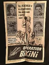 Operation Bikini 1963 Original Vintage One Sheet Movie Poster, Eva Six, Tab Hunter, Frankie Avalon, Army, War