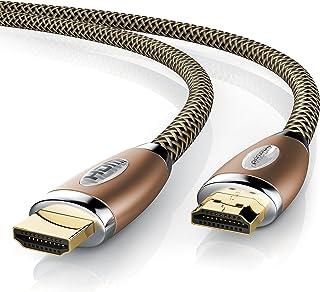 Primewire - 10m Cable de HDMI - Ultra HD 4k HDMI - Alta Velocidad con Ethernet - 4K Ultra HD 2160p 3D ARC y CEC - Cable de blindaje Triple - blindaje de Conector y contactos -Cobre