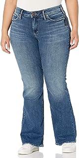 Silver Jeans Co. Women's Plus Size Suki Curvy Fit Mid Rise Bootcut Jeans