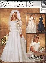 7452 McCalls Sewing Pattern Uncut Misses Wedding Dress Bridal Gown Size 8 10 12