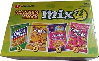 Nongshim variety pack 12 pack box! onion rings , potato, sweet potato , & honey twist .