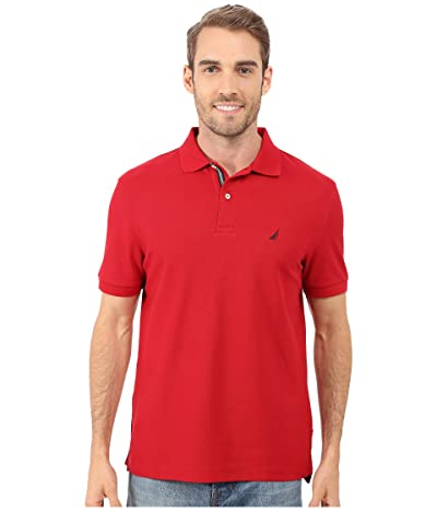 Nautica S/S Solid Polo With Tape (Nautical Red) Men