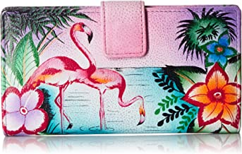 ANNA by Anuschka Hand Painted Leather Two Fold Organizer wallet