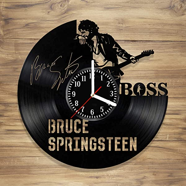 Bruce Vinyl Wall Clock The Boss E Street Band Rock Music Legend Art Decorate Home Style Unique Gift Idea For Him Her 12 Inches