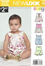 New Look Patterns Babie's Rompers with Trim Variations A (NB-S-M-L) 6462