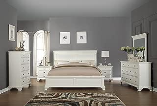Roundhill Furniture B012KDMN2C Bedroom Furniture Bed Dresser King White
