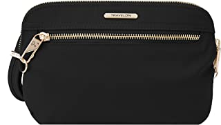 Travelon Women's Anti-Theft Tailored Convertible Crossbody Clutch Cross Body Bag