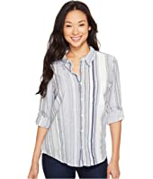 Dylan by True Grit - Coast Stripes One-Pocket Roll Sleeve Shirt