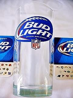 Bud Light/NFL Beer Glass & Coaster Set