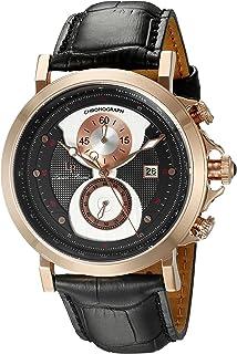 Lucien Piccard Men's 40015-RG-01 Pegasus Analog Display Quartz Black Watch