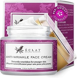 Crema Facial Antiarrugas Eclat – Crema Antiarrugas Péptidos Alta Potencia Fórmula con Ácido Hialurónico y Matrixyl 3000 má...