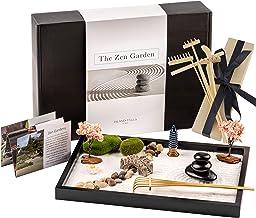 Island Falls Home Zen Garden Kit -11x8 inch Beautiful Premium Japanese Mini Rock Garden Meditation Gift Set for Home & Off...