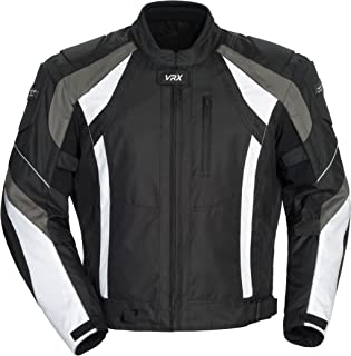Cortech VRX Men's Textile Armored Motorcycle Jacket (Black/Gun/White, XX-Large)