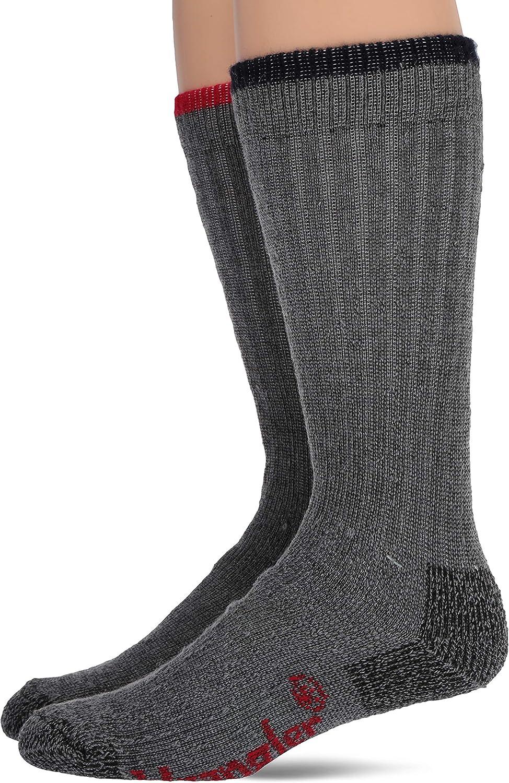 Wrangler Men's Merino Wool Ultra-Dri Boot Crew Socks 2 Pair Pack
