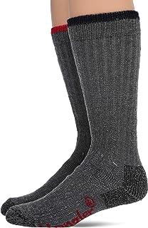 Wrangler mens Merino Wool Ultra-dri Boot Crew Socks 2 Pair Pack Casual Sock Large