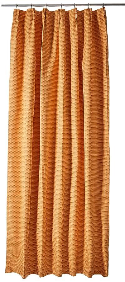 チャンス活性化中庭(ベルーナ)BELLUNA 防音?断熱?保温1級遮光カーテン オレンジ 約幅100×丈200cm(2枚組)