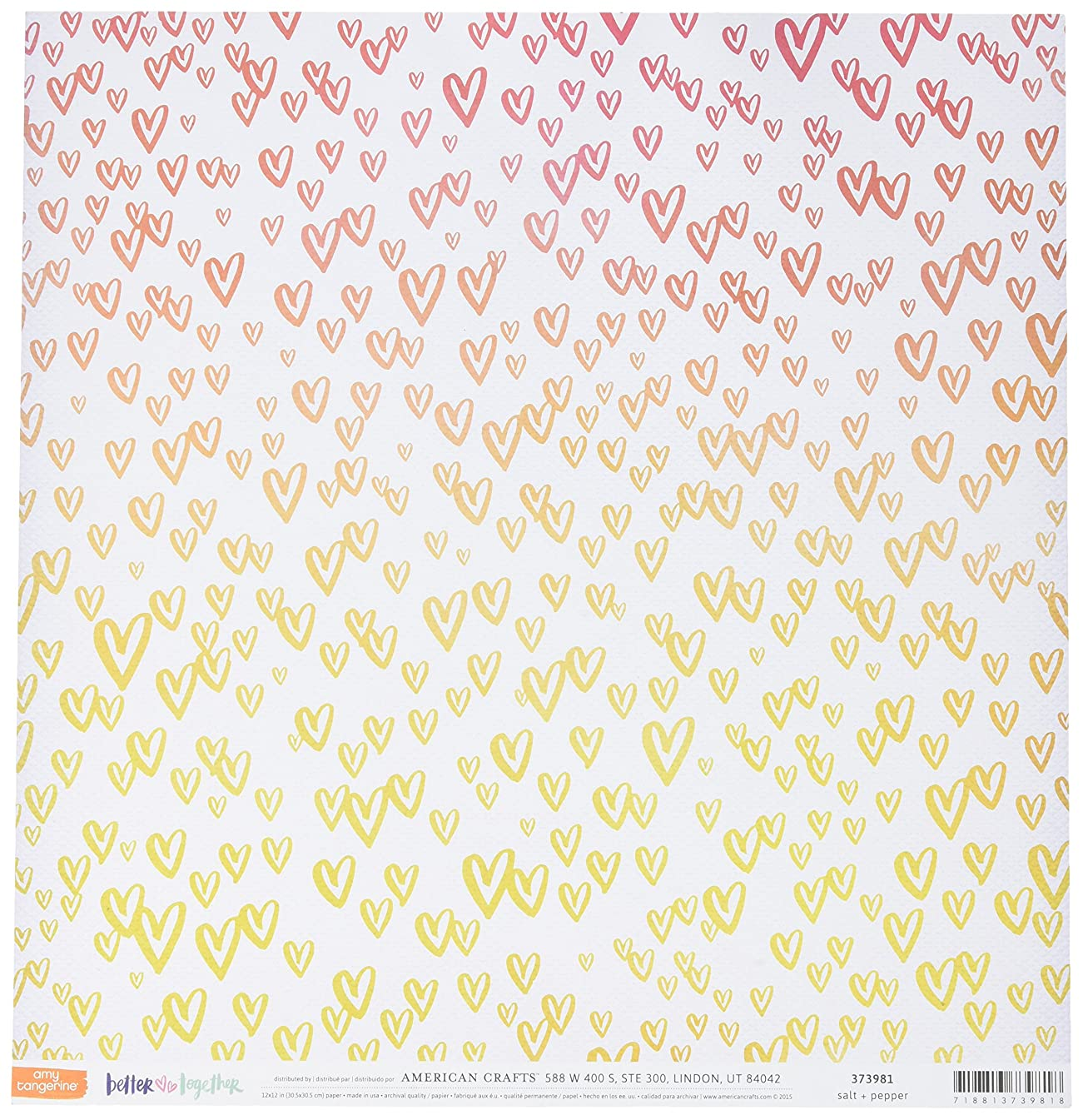 American Crafts 373981 Amy Tan Better Together Double Sided Cardstock (25 Sheets Per Pack), 12