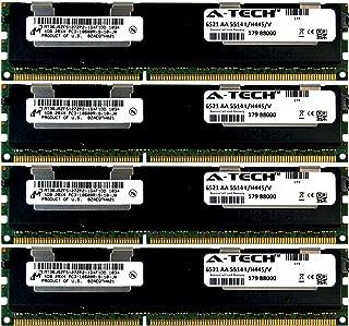 A-Tech Micron 16GB Kit 4X 4GB PC3-10600 1.5V for HP ProLiant DL170H G6 DL180 G6 DL320 G6 500662-B21 ML350 G6 DL360E G8 SL160S G6 SL165Z G7 516423-B21 SL165S G7 SL170S G6 SL230S G8 Memory RAM