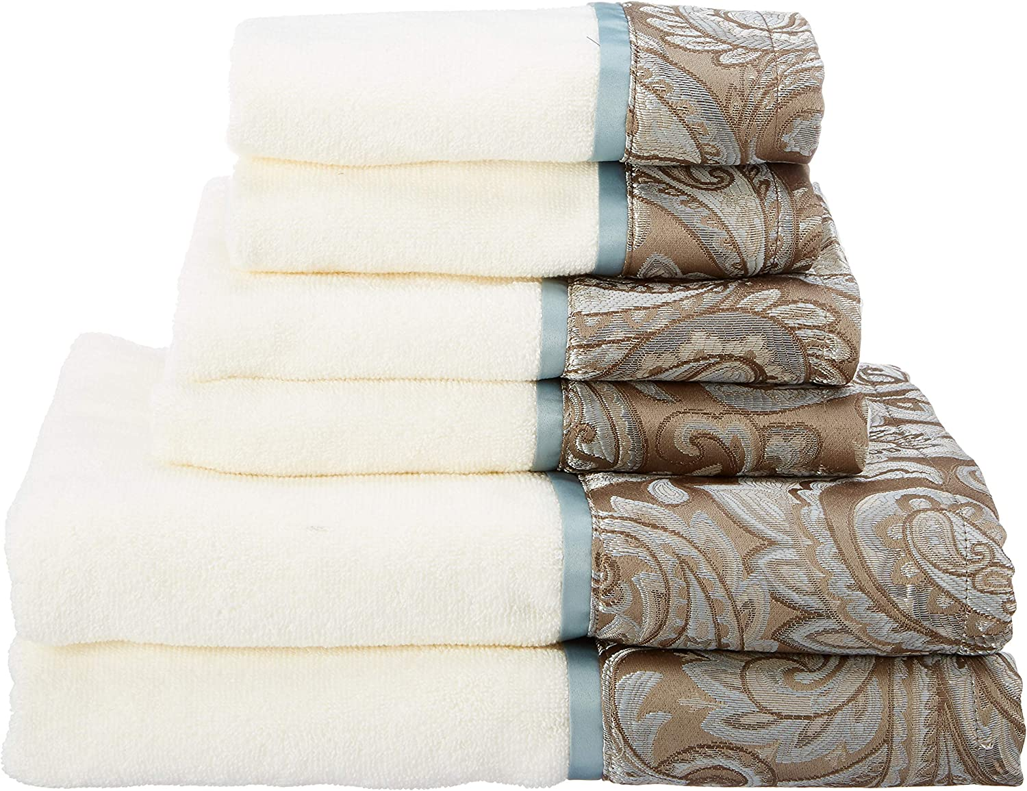 Madison Park Aubrey Towel Set, bluee