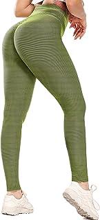 SEASUM Leggins Donna Sportivi Anticellulite Pantaloni Nido d'Ape 3D Leggings Compressione Push up Vita Alta Yoga Pants Ela...