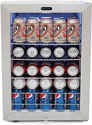 Whynter BR-091WS, 90 Can Capacity Stainless Steel Beverage Refrigerator with Lock White
