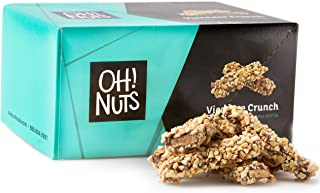 Toffee Candy Brittle Butter Cashew Nuts, Gourmet Dark Chocolate Viennese Crunch Log, Party Gift Basket (2lb Pound) - Oh! Nuts