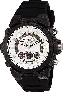 Q&Q Men's White Dial Silicone Band Watch - DA90J001Y