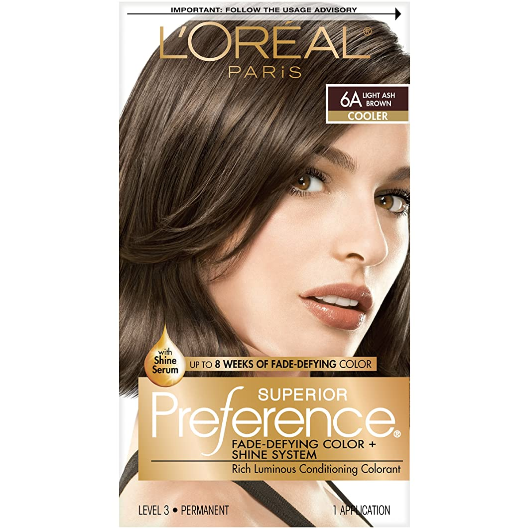 L'Oréal Paris Superior Preference Fade-Defying + Shine Permanent Hair Color, 6A Light Ash Brown, 1 kit Hair Dye
