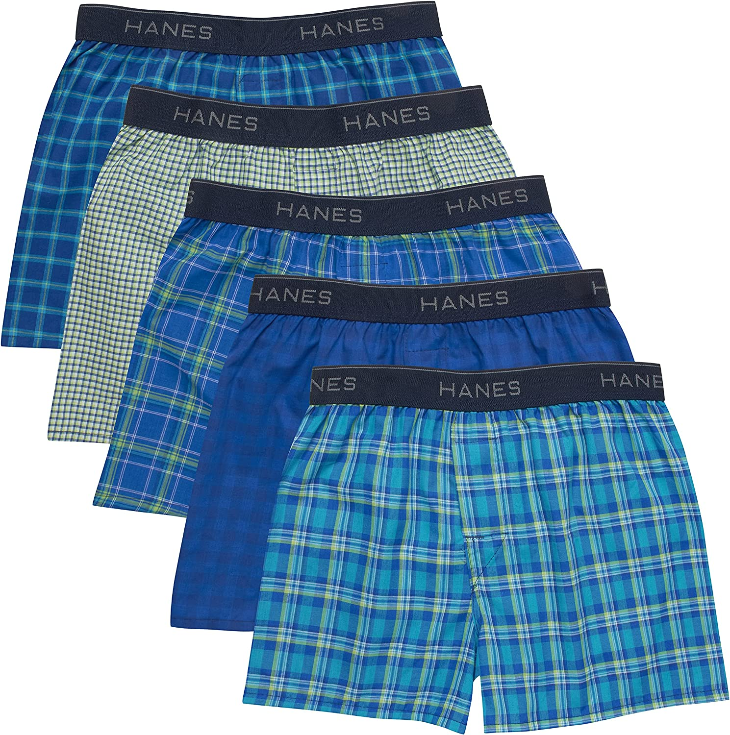 Hanes Boys' 5-Pack Boxer (Colors may vary)