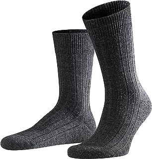 FALKE Socken Teppich im Schuh Schurwolle Herren schwarz grau viele weitere Farben verstärkte Herrensocken ohne Muster atmungsaktiv dick einfarbig mit Plüschsohle 1 Paar