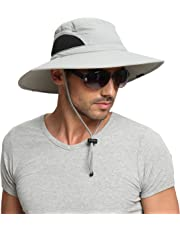 EINSKEY 夏 つば広 UV カット 釣り 帽子 メンズ レディース アウトドア 防水 ハンチング サファリ ハット 折りたたみ 登山 ブーニー ハット