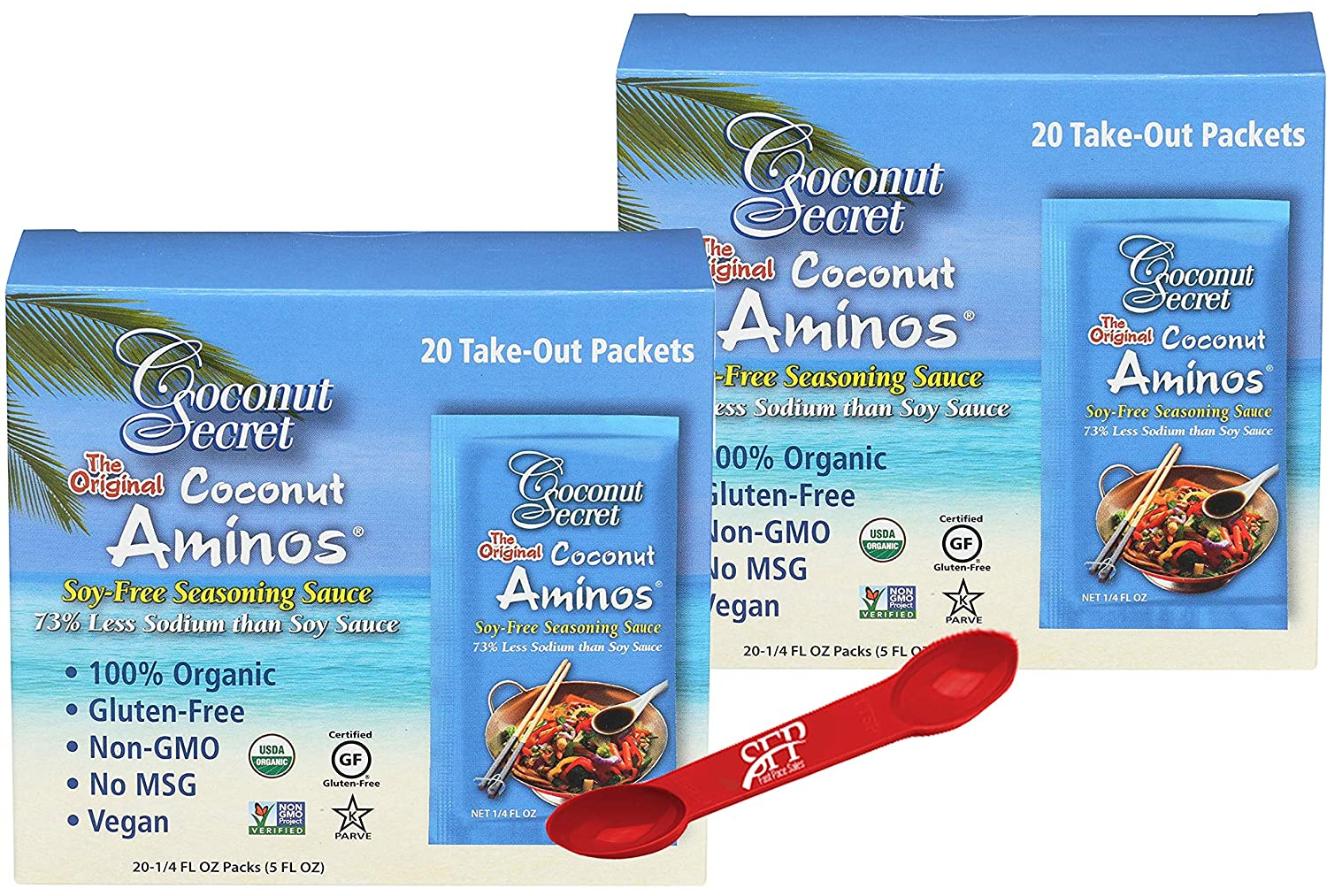 COCONUT AMINOS Special price SOY FREE SAUCE PACKETS Gluten Popular brand in the world Soy 2 Pack Free