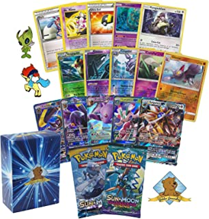 Pokemon GX Guaranteed with 2 Sun and Moon Series Booster Packs, 2 Holo Rares, 7 Reverse Foils, 10 Rare Cards and 20 Pokemo...
