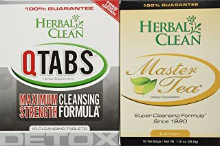 Fast Detox (1) Qtabs & (1) Master Tea W/ Creatine Tablets by Herbal Clean Quick Detox With Master Tea To Get Absolutely Clean Today – Detoxify with Herbal All Natural Ingredients