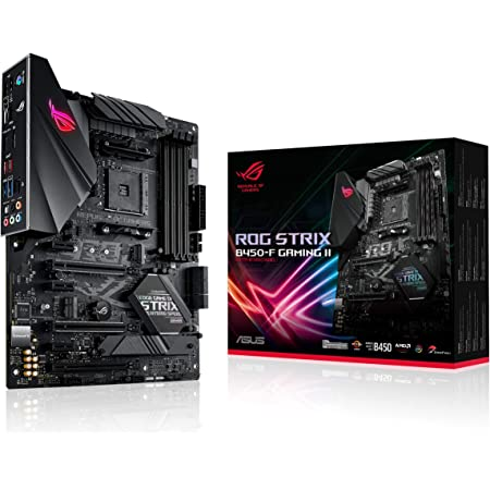 ASUS ROG Strix B450-F Gaming II AMD AM4 (Ryzen 5000, 3rd Gen Ryzen ATX Gaming Motherboard (8+4 Power Stages, HDMI 2.0b/DP,2 x PCIe 3.0 x16, USB 3.2 Gen 2 Type-C, BIOS Flashback, 256Mb BIOS Flash ROM