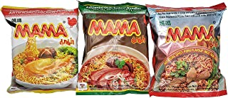 MAMA Ramen Style Instant Oriental Noodles Variety Pack Chicken, Duck, Spicy Pork Flavors 30 Pack