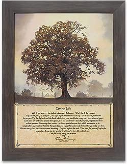 Homekor Living Life Inspirational Quote Hanging Wall Art Framed Print 12 x 16