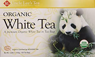 Uncle Lee's Tea- Organic White Tea, Premium Organic White Tea in Tea Bags 100ct