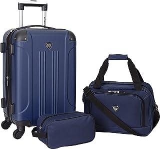 Travelers Club Sky+ Luggage Set, Navy Blue, 3 Piece