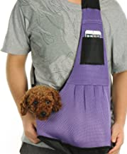 kiwitatá Small Dog Pet Cat Sling Carrier Bag Adjustable Single Shoulder Bag Nylon Cloth Outdoor Pet Carriers Dog Kittens Puppy Carrier Travel Backpack