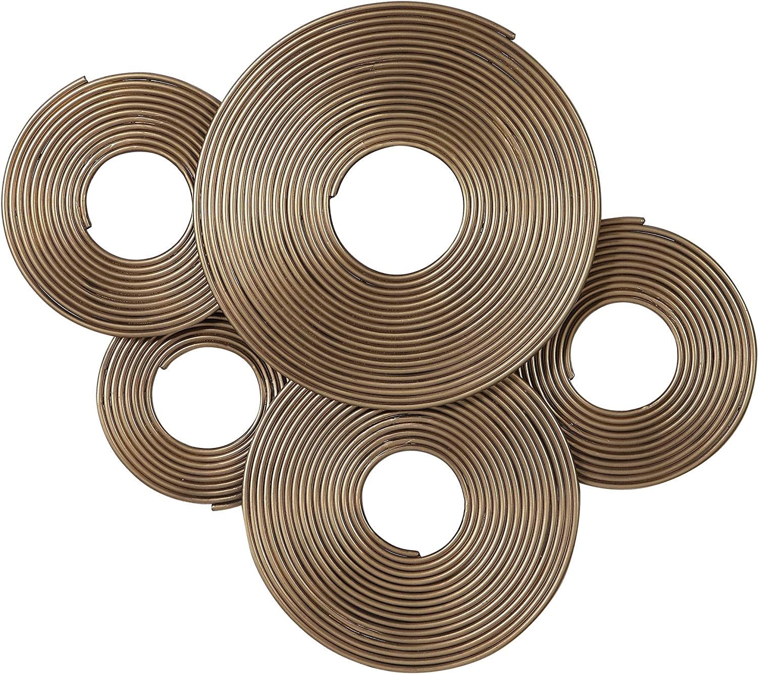 MY SWANKY HOME Modern Gold Rings Sculpture MidCentury Beauty products Wall Dedication Metal