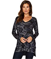 Nally & Millie - Printed V-neck Sweater Tunic