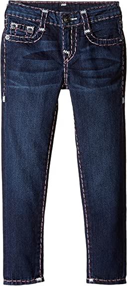 Casey White and Pink Combo Super T Jeans in Tear Drop Blue (Toddler/Little Kids)