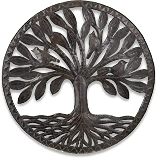 Haitian Hands 'Travelers Tree' Haitian Handcrafted Metal Art Made from Recycled Steel Barrels