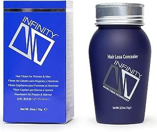 Infinity Hair Fiber - Hair Loss Concealer - Hair Thickening Fiber for Men & Women - Black, 15g