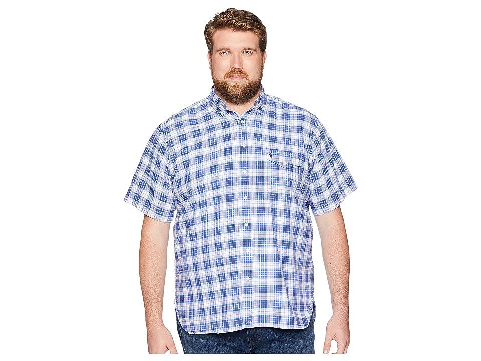 Polo Ralph Lauren Big & Tall Big Tall Oxford Button Down Sport Shirt (Blue/Salmon Multi) Men