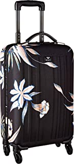 Junior's Stay True Carry On Roller Bag, true black delicate flowers, One Size