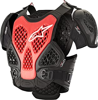 Bionic Off-Road Motorcycle Chest Protector (Extra Large/2XL, Black Red)