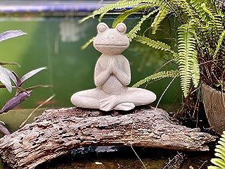 Elly Décor 8.5 Inch Tall Meditating Yoga Peace Todd Sculpture Figurine, Lawn Garden Statue Décor Made of Ceramic Zen Frog,...