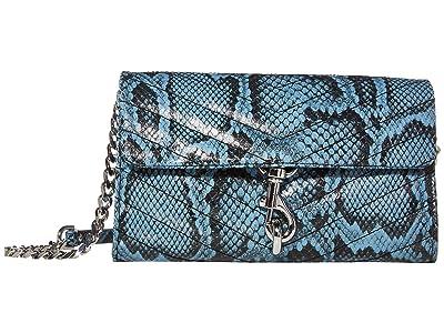 Rebecca Minkoff Edie Wallet On Chain (Cement Blue) Handbags